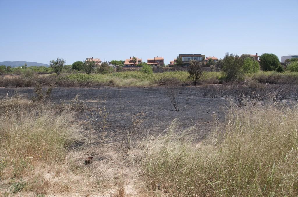 Incendi a la urbanització Blancafort