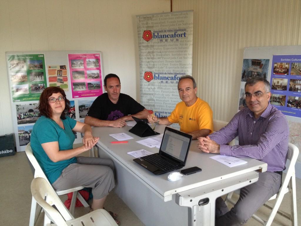 Primera reunió de la Junta al nou local social