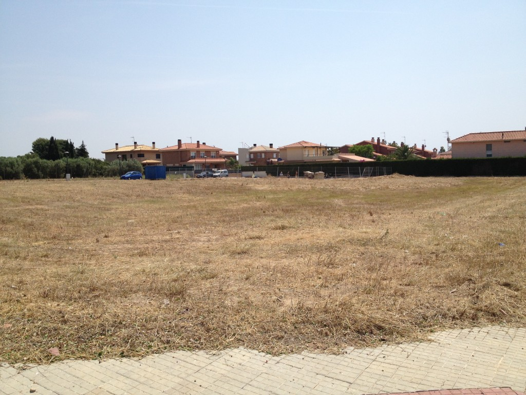 Neteja solar gran de la urbanització