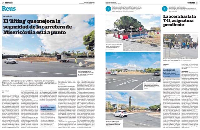 La nova rotonda al Diari de Tarragona (22-10-17)